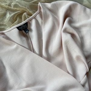 NWOT Topshop Petite Blush Wrap Dress